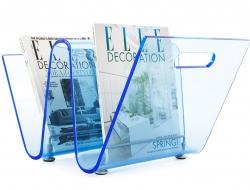 Bild von Stuhl-Design Zeitungsständer The Wave - Blau