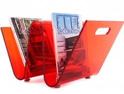 Bild von Stuhl-Design Zeitungsständer The Wave - Rot