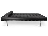 Bild von Stuhl-Design Barcelona Daybed 198 cm - Schwarz