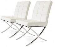 Bild von Stuhl-Design Barcelona Dining Chairs - Weiß (2er Set)