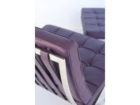 Bild von Stuhl-Design Barcelona Sessel - Malvenfarbig