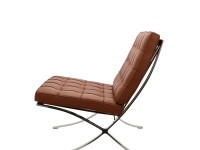 Bild von Stuhl-Design Barcelona Sessel - Premium Cognac