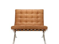 Bild von Stuhl-Design Barcelona Sessel - Premium Vintage Cognac