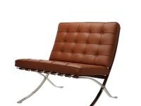Bild von Stuhl-Design Barcelona Sessel und Ottoman - Premium Cognac