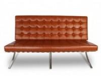 Bild von Stuhl-Design Barcelona Sofa 2 Sitzer - Cognac