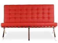 Bild von Stuhl-Design Barcelona Sofa 2 Sitzer - Rot