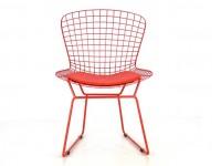 Bild von Stuhl-Design Bertoia Wire Side Stuh - Rot