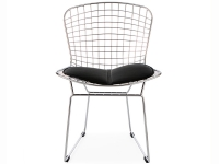 Bild von Stuhl-Design Bertoia Wire Side Stuhl - Schwarz