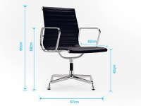Bild von Stuhl-Design Besucherstuhl EA108 - Orange