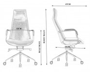 Bild von Stuhl-Design Bürostuhl Ergonomic 1901HB-129 - Schwarz
