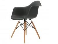 Bild von Stuhl-Design COSY Holz Stuhl - Anthrazit