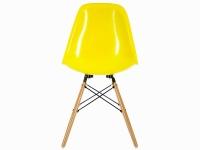 Bild von Stuhl-Design COSY Holz Stuhl - Gelb Glänzend