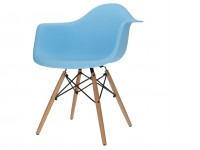 Bild von Stuhl-Design COSY Holz Stuhl - Hellblau