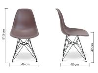 Bild von Stuhl-Design COSY Metall Stuhl - Braun