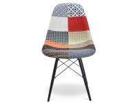 Bild von Stuhl-Design DSW Stuhl Wollpolsterung - Patchwork