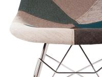 Bild von Stuhl-Design Eames Schaukelstuhl RSR - Blau Patchwork