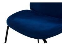 Bild von Stuhl-Design Orville Mr. B  Chair - Blaues Samtstoff
