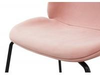 Bild von Stuhl-Design Orville Mr. B  Chair - Rosa Samtstoff