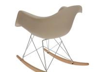 Bild von Stuhl-Design Rocking chair Cosy - Grau beige