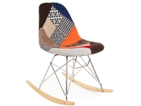 Bild von Stuhl-Design Rocking chair Cosy - Patchwork