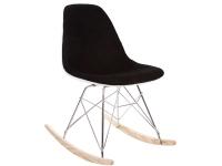 Bild von Stuhl-Design Rocking chair Cosy Wollpolsterung - Schwarz