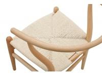 Bild von Stuhl-Design Wegner Wishbone CH24 Stuhl - Lackiertes Naturholz