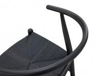 Bild von Stuhl-Design Wegner Wishbone CH24 Stuhl - Schwarz Lackiertes Buchenholz