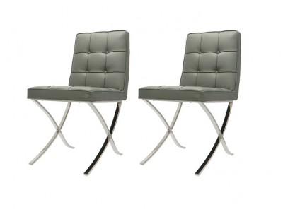 Bild von Stuhl-Design Barcelona Dining Chairs - Grau (2er Set)