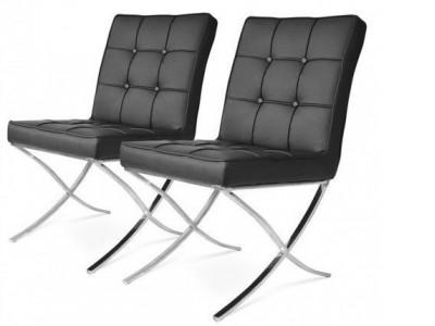 Bild von Stuhl-Design Barcelona Dining Chairs - Schwarz (2er Set)