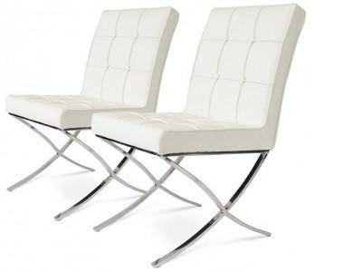 Bild von Stuhl-Design Barcelona Dining Chairs - Weiß (2 Stühle)