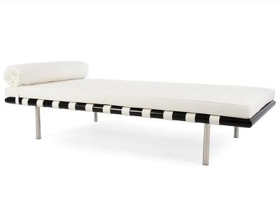 Bild von Stuhl-Design Barcelona Liege 195 cm - Weiß