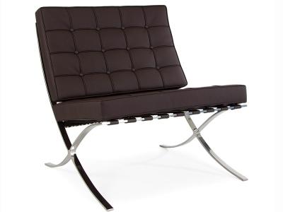 Bild von Stuhl-Design Barcelona Sessel - Dunkel Braun