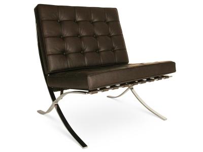 Bild von Stuhl-Design Barcelona Sessel - Dunkelbraun