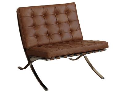 Bild von Stuhl-Design Barcelona Sessel - Karamell