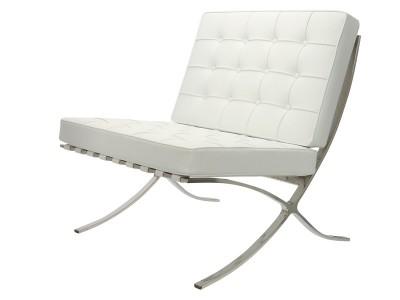 Bild von Stuhl-Design Barcelona Sessel - Schneeweiß