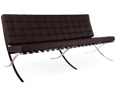 Bild von Stuhl-Design Barcelona Sofa 3 Sitzer - Dunkelbraun