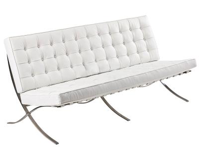 Bild von Stuhl-Design Barcelona Sofa 3 Sitzer - Weiß