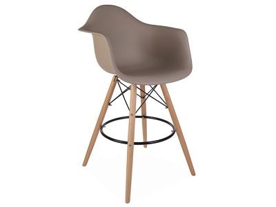 Bild von Stuhl-Design Barstuhl DAB - Grau beige