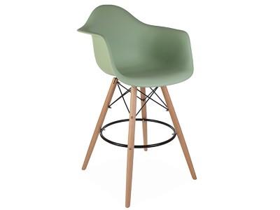 Bild von Stuhl-Design Barstuhl DAB - Mandel grün
