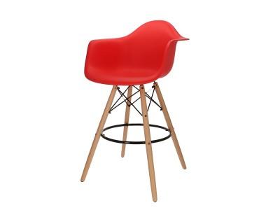 Bild von Stuhl-Design Barstuhl DAB - Rot