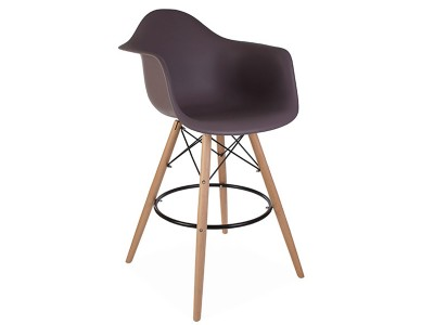 Bild von Stuhl-Design Barstuhl DAB - Taupe