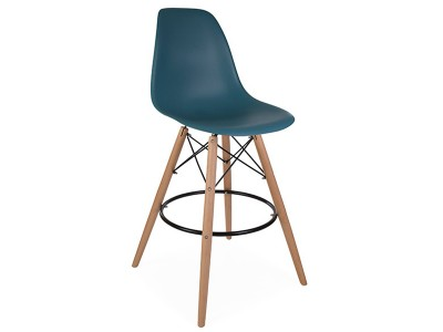 Bild von Stuhl-Design Barstuhl DSB - Blau Grün