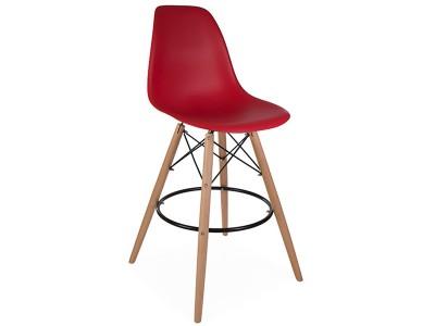 Bild von Stuhl-Design Barstuhl DSB - Granat Rot
