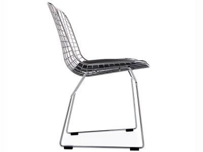 Bertoia wire side stuh schwarz for Design stuhl draht