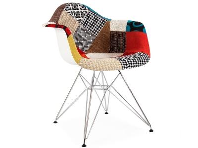 Bild von Stuhl-Design DAR Stuhl Wollpolsterung - Patchwork