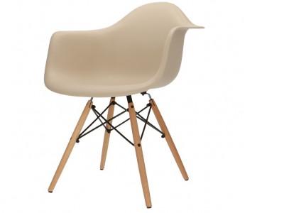 Bild von Stuhl-Design DAW Eames Stuhl - Grau Beige