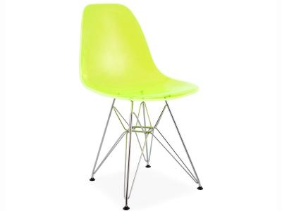 Dsw stuhl in wei als hochwertige reproduktion bestellen for Design stuhl durchsichtig