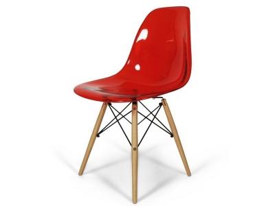 Bild von Stuhl-Design DSW Stuhl - Durchsichtig Rot