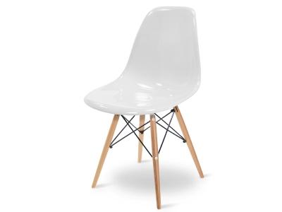 Bild von Stuhl-Design Eames DSW Stuhl - Weiß Glänzend