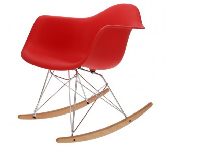 Bild von Stuhl-Design Eames Rocking Chair RAR - Rot